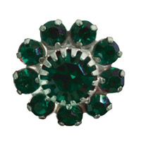 Toe Ring Flower - Emerald