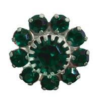 Toe Ring Flower - Emerald
