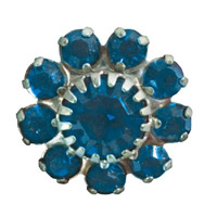 Toe Ring Flower - Light Sapphire