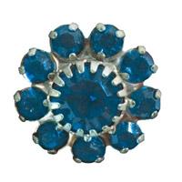 Toe Ring Flower - Light Sapphire